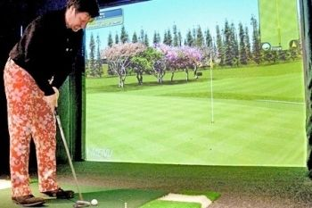 Golf Simulator Plus Nachos and Beer For Two from £14 at The Green (Up to 69% Off)