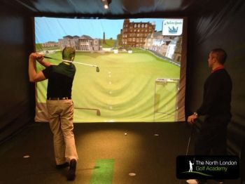 70% off Golf Lesson with Golf Simulator Practice - £10