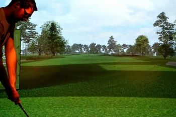 Golf Cafe Bar: Group Simulator Session With Pizza to Share from £14.90 (Up to 64% Off)
