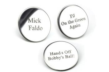 Personalised Golf Ball Marker Set for £7.99 (Up to 68% Off)