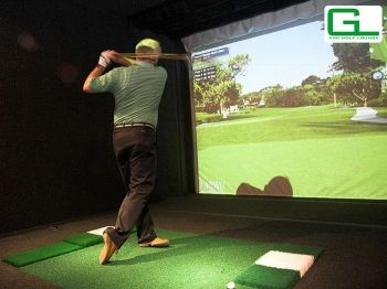 57% off Golf Simulator Session for Four with Burger Meal - £25