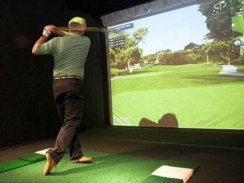 57% off Golf Simulator Session for Four with Burger Each - £25