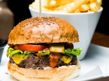Burger and Beer with Driving Range Balls for Two - £17