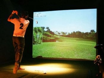 64% off Golf Simulator and Pizza for Eight - £17