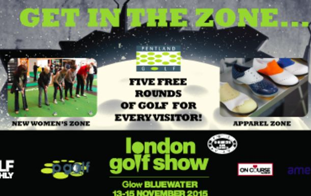 2 for 1 on London Golf Show Tickets at Glow Bluewater