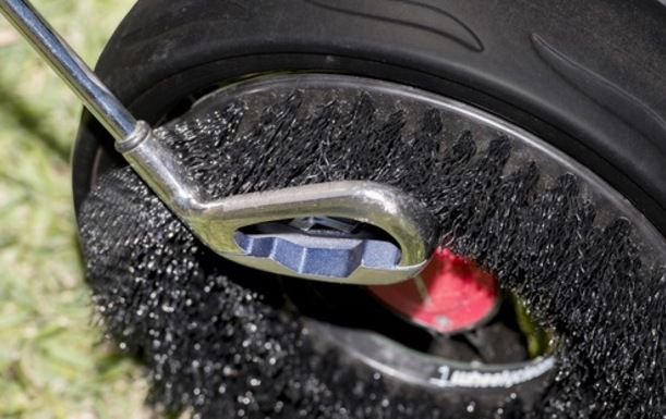Start of Season Offer. A state of the art WheelyClean Brush. Clean Your Clubs on the Move.