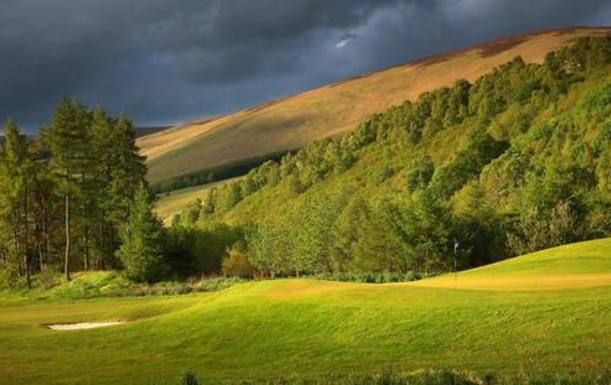 18 Holes for 2 at The Macdonald Cardrona Hotel, Golf & Spa, including a Bacon Roll and Tea or Coffee plus a Cardrona Resort Ball Marker each