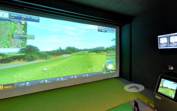 An Hours State of the Art Golf Simulator Experience for up to 6 players at Surbiton Golf Studios.