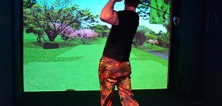 Indoor Golf with Nachos and Beer for Two of Four at The Green Manchester (Up to 63% Off)