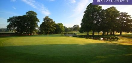 18 Holes of Golf Plus Titleist Golf Sleeve for Two or Four at Mottram Hall
