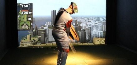 Group Golf Simulator Session with Pizza to Share from Golf Cafe Bar (Up to 69% Off)