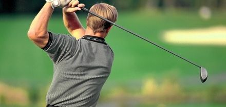 Nine Holes of Golf with a Bacon Roll, Soup and Sandwich or a Two-Course Lunch (Up to 33% Off)