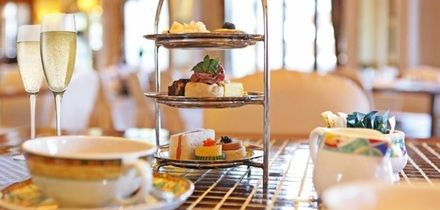 Afternoon Tea for Two or Four with Optional Glass of Wine Each at Oak Royal Hotel Golf & Country Club (50% Off)
