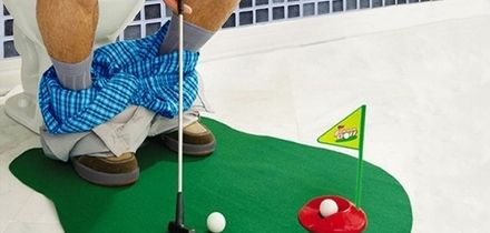 One (£7.99) or Two (£12.98) Seven-Piece Potty Golf Sets With Putter