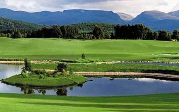 18 Holes for TWO including a Bacon Roll and Tea or Coffee, plus a basket of Range Balls each at The Macdonald Spey Valley Championship Course