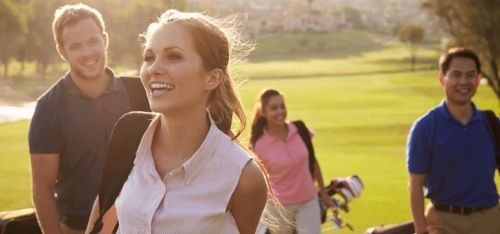 £18 for three one-hour beginner golf lessons with 18 holes, £36 for six intermediate lessons or four 90-min advanced lessons at Oakmere Park Golf Club - save 60%