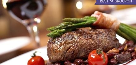 Sirloin Steak and Chips with a Glass of Wine for Two or Four at Skylark Golf and Country Club (Up to 44% Off)