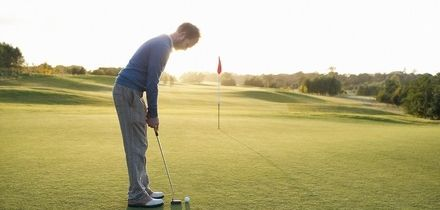 18 Holes of Golf with Bacon Roll or Burger and Chips for One or Two or Four at Manston Golf Centre (Up to 42% Off)