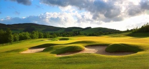 £19 instead of £75 for 18 holes of Championship golf for one person with a bacon roll and tea or coffee, £34 for two, £59 for four at Macdonald Cardrona Hotel, Golf & Spa, Peebles - save up to 75%