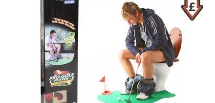 Seven-Piece Potty Golf Set With Putter