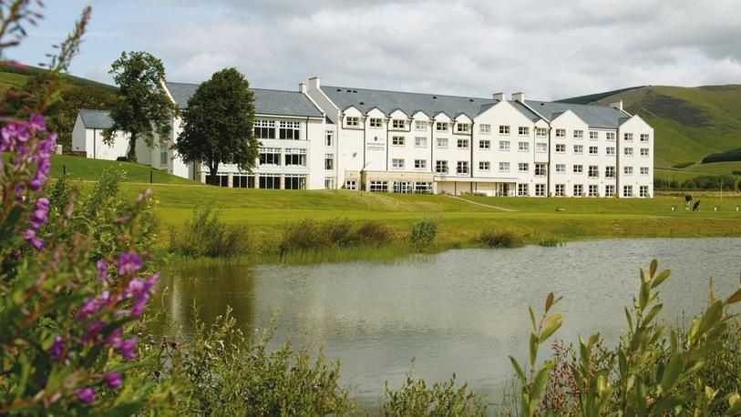 18 Holes for TWO at Macdonald Cardrona Hotel, Golf & Spa, including a Bacon Roll & a Tea or Coffee each