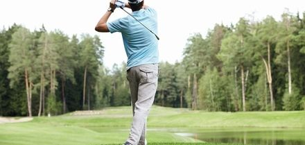18 Holes of Golf with Drink and Driving Range Access for Two or Four at Stockley Park Golf Club (Up to 63% Off)