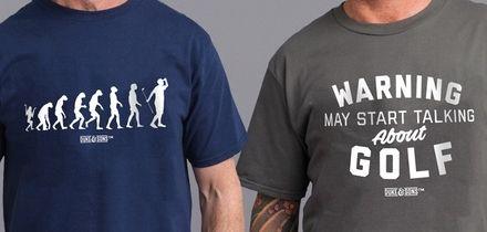 Men's Golf Enthusiasts Cotton T-Shirt