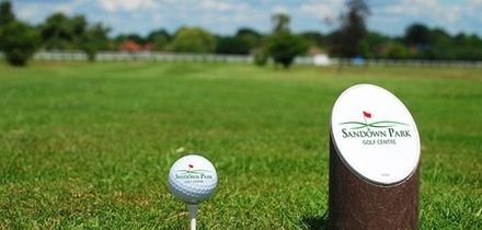 18 Holes of Golf and 100 Range Balls for Two or Four at Sandown Park Golf Centre (65% Off)