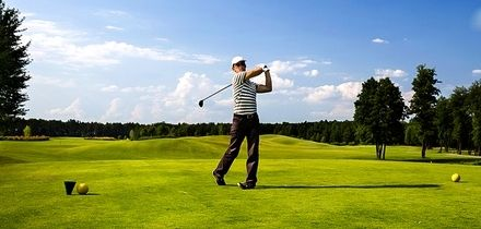 18 Holes of Golf with Drink for Two or Four at Manston Golf Centre (Up to 42% Off)
