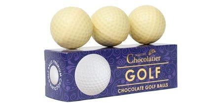 One or Three Packs of Martin's Chocolatier Chocolate Golf Balls