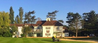 18 Holes for TWO at Woolston Manor Golf Club including Burger & Chips each